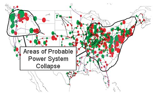 US HVAC distribution network, regions of possible